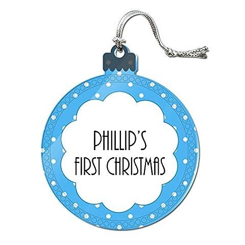 Acryl Weihnachtsbaum Urlaub 1. Ornament Namen Stecker pa-pr, Phillip