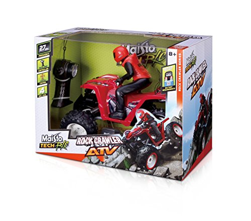Maisto 81323 - radiocomando tech rock crawler atv, colori assortiti