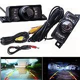EUZeo LED color Impermeable visión nocturna Grabador de visión trasera de gran angular cámara de visión trasera Dash Cam Car seguridad sistema de aparcamiento