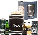 probierFass Männer Geschenk | 3 Whisky Klassiker (3 x 0.05 l) verpackt in einem originellen Fass mit Geschenkverpackung | Glenfiddich 12 Years - Highland Park 12 Years - Bunnahabhain 12 Years