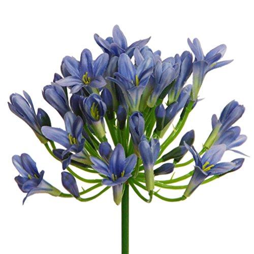 Kunstblume AGAPANTHUS ca 75 cm. Liebesblumen, Schmucklilie. BLAU -04