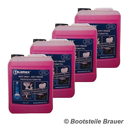 Bootsteile Brauer 4 x 5 Liter Talemex für Frostschutzmittel Trinkwassersysteme Motorkühlsysteme auf Booten Wohnwagen Frostschutz I