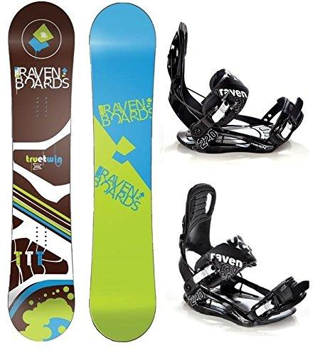 Snowboard Set: Snowboard Raven TTT Brown Rocker + Bindung Raven s220 Black XL