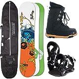 Ftwo Herren Snowboard Set Union 154 cm + FASTEC Bindung GR. L + Boots + Bag