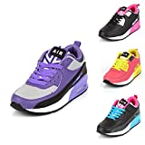 Ladies Running Trainers Air Shock Absorbing Fitness Gym Sports Shoes Size UK 2-7
