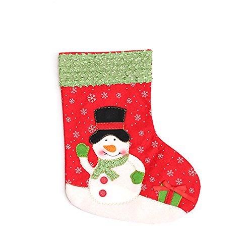 (Ferrell Christmas Sock Children Gift Bag Xmas Decoration Santa Claus Snowman Kids Candy Bags Christmas Tree Ornaments)