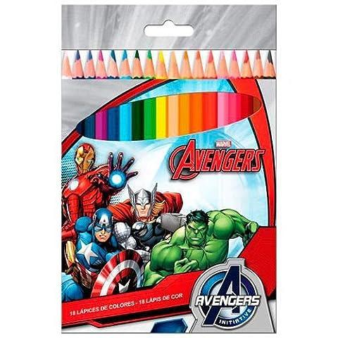Plaquette de 18 crayons de couleurs Avengers Avengers de Marvel
