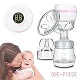 FUNTOK Milchpumpe Brustpumpe Baby Stillen Elektrische Einteilige Einmal-Stillpumpe Elektrische Komfort Einzelmilchpumpe Erweiterte BPA frei inklusiv Babyfläschchen
