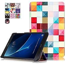 Funda Tab A6 2016,Case para Samsung Tab A 10.1,Smart Case cover Carcasa de PU Cuero para Samsung Galaxy Tab A 10.1 Pulgadas (2016) SM-T580N / T585N Tablet Protección conc Fonction Soporte,Cubo colores