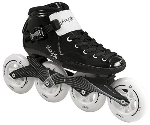 Playlife PL Performance Racing Inline Skates schwarz-weiß, 41