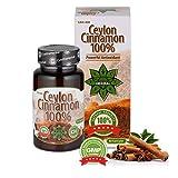 Cvetita Herbal,80 Capsule di cannella di Ceylon,100% Antiossidante,Migliora la digestione e il metabolismo,Ridurre l'appetito e la perdita di peso