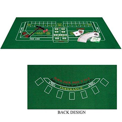 Blackjack / Craps Set - Casino Party Game Set