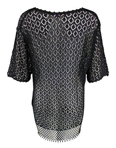 DAMART Jewel Fringed Crochet Cardigan. UK Size 18-20 / EUR 46-48