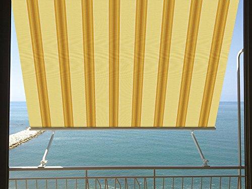Verdelook tenda a caduta con braccetti milos, dim.2.45x3.00, beige/ocra tende arredo