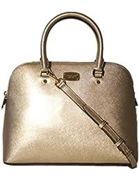 Michael Kors Cindy Large Dome Satchel MK Signature Shoulder Bag Purse Handbag