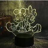 Neue Nette Mickey & Minnie Mouse Cartoon 3D Led Nachtlicht Neuheit Tisch Schreibtischlampe Geburtstag Weihnachten Geschenk Kind Kinder Wohnkultur