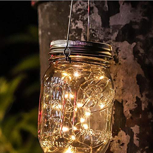 Lámpara de botella de albañil solar llevó luciérnaga luz impermeable color de cristal jardín luz, jardín boda DIY botella exterior barbacoa fiesta boda Navidad vacaciones