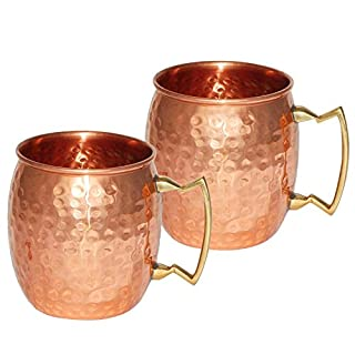 Handmade Pure Copper Hammered Moscow Mule Mug (2)