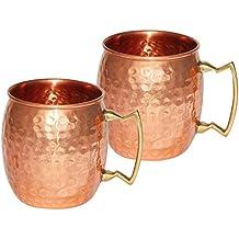 Handmade Pure Copper Hammered Moscow Mule Mug (2)