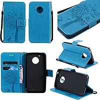 Motorola Moto G5 Hülle Blau im Retro Wallet Design,Cozy Hut Motorola Moto G5 Hülle Leadertasche Premium Lederhülle... preisvergleich bei billige-tabletten.eu