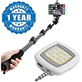 Drumstone Selfie Extendable Handheld Monopod With Zoom Bluetooth Remote With Universal Portable Mini 16 Led 3.5Mm Jack Selfie Flash