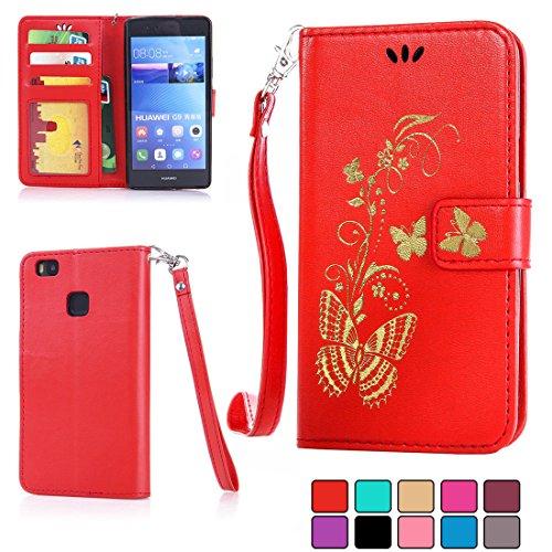 ifeeker-huawei-p9-lite-wallet-pu-leather-case-with-screen-protectorgolden-vines-flower-plantscute-bu