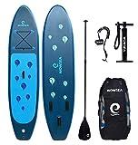 Die besten Paddle Boards für Anfänger - WOWSEA Surfboard aufblasbar Paddle Board Set mit Größe: Bewertungen