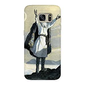 Old Man Art Back Case Cover for Galaxy S7