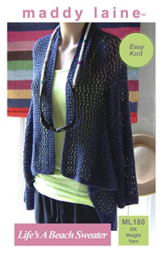 maddy laine Knitting Pattern - ML180 Life's A Beach Sweater (English Edition) Beach Sweatshirt