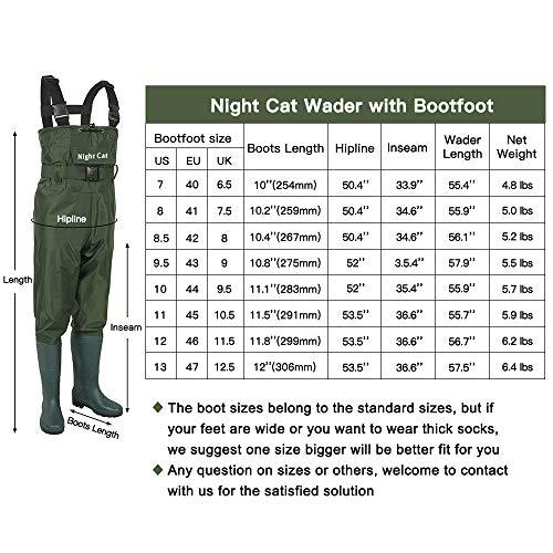 Night Cat Trampolieri da Pesca per Gatti da Uomo Grembiuli da Caccia con Stivali da Uomo Impermeabili Pantaloni da Bib