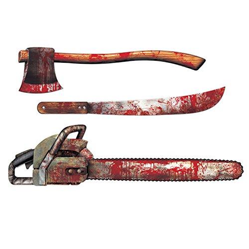Confezione di 3 decorazioni armi insanguinate per halloween
