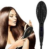 Molain Brosse Chaufante Lisseur Hair Straightener Brosse à Cheveux Lisseur avec LCD Affichage