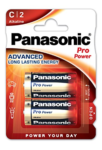 Panasonic Pro Power Alkali-Batterie (Baby C, LR14, 2er Pack)