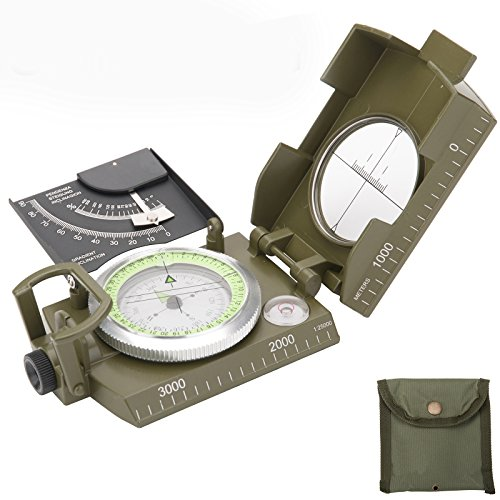 BAYTTER® BW Marschkompass Bundeswehr Militär Kompass Militärkompass für Outdoor Camping Wandern Trekking