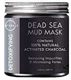 O Naturals Dead Sea Mud Mask with Charcoal - 8.45 oz. Detoxifying Facial Mask for Removing Impurities, Deep Cleansing, Exfoliating & Pore Minimizing. Enriched with Vitamin E & Jojoba Oil. Vegan