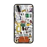 DEPING DP-125 Friends TV Show Series Sitcom étui, Coque arrière en Verre trempé et Conception de Pare-Chocs Anti-Rayures en Silicone Souple pour la Coque de Protection iPhone 11 Pro Max