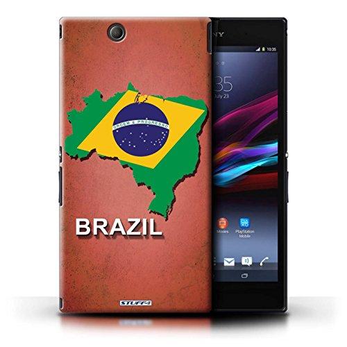 Kobalt® Imprimé Etui / Coque pour Sony Xperia Z Ultra / Lituanie/Lituanien conception / Série Drapeau Pays Brésil