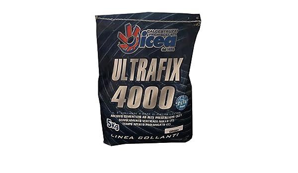 Ultrafix 4000 bianca e grigio 5 kg adesivo per piastrelle ad
