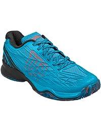 Wilson WRS322380E095, Zapatillas de Tenis para Hombre, Azul (Hawaiian Ocean / Black / Fiery Coral), 44 EU