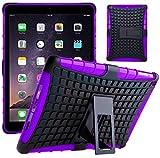 G-Shield Hülle für iPad Air (1.Gen) Stoßfest Schutzhülle mit Ständer - Lila