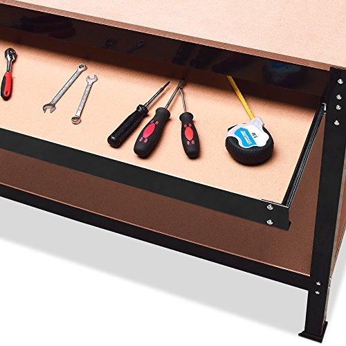 Werkbank Deuba® ✔ XXL 150x120x60cm ✔ Lochwand ✔ Profi Ausführung – Werkstatttisch Packtisch Werktisch - 6