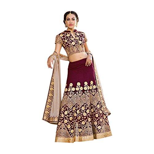 traditionelle indische lehenga choli dupatta Brauthochzeit partwear Frauen kleiden ethnische Zeremonie 748 (Choli Indische Lehenga)