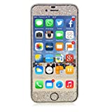 Blingmeister® Apple iPhone 6 / iPhone 6s DIAMOND Skin Bling Glitzerfolie Schutzfolie – Champagner Gold - 2