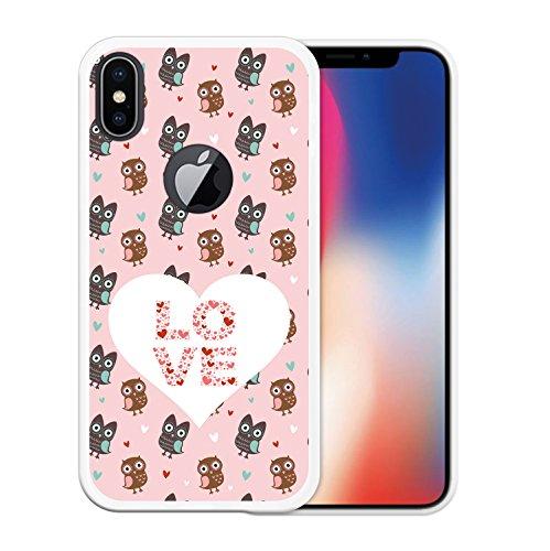 iPhone X Hülle, WoowCase Handyhülle Silikon für [ iPhone X ] Hund Fußabdruck Handytasche Handy Cover Case Schutzhülle Flexible TPU - Schwarz Housse Gel iPhone X Transparent D0036