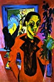 Self Portrait With Cat - By Ernst Ludwig Kirchner - Leinwanddrucke 20x30 Inch Ungerahmt