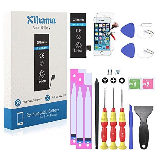 New Xlhama Batteria Alta Capacità PER iPhone 5S/5C 1700 Mah CON KIT SMONTAGGIO CACCIAVITE Strumento Istruzione data compresso Adesivi biadesivo
