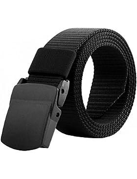 Tinksky Cinturón militar de los hombres de la correa ajustable Cinturón táctico al aire libre ajustable con la...