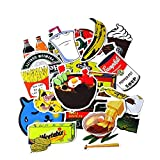TUDUDU 20Pcs Kreative Süße Selbst Gemacht Tägliche Essen & Trinken Aufkleber JDM Cool Aufkleber...