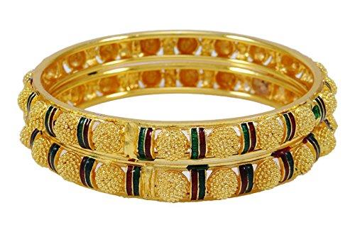 Banithani 18k vergoldet kada Armbandarmband indische traditionelle Frauenschmuck 2 * 10