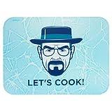 """getDigital 12090 - Tagliere multicolore in plastica con scritta""""Let's Cook"""", 39 x 29 x 0,4 cm"""